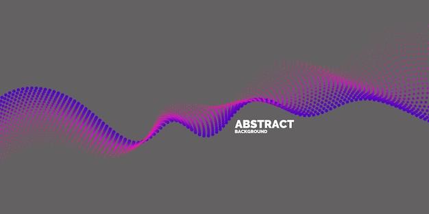 Fundo abstrato do vetor com ondas dinâmicas, linha e partículas. ilustração adequada para design