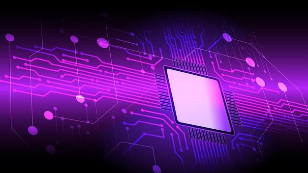 Fundo abstrato do vetor da placa de circuito do microprocessador do computador. eps 10.