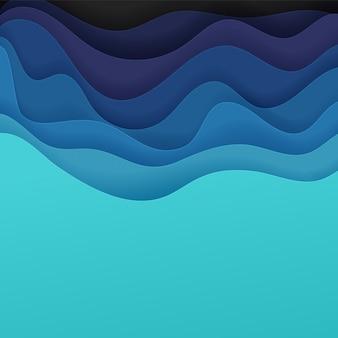 Fundo abstrato do vetor de ondas de cor