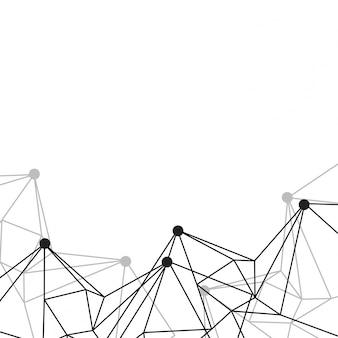 Fundo abstrato do wireframe geométrico