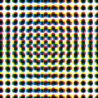 Fundo abstrato dos pontos de cmyk