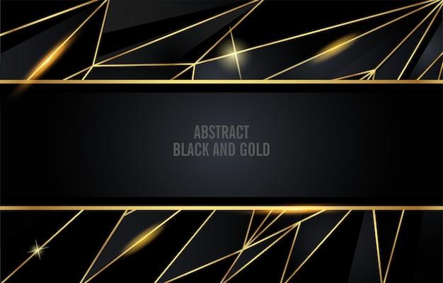 Fundo abstrato dourado preto