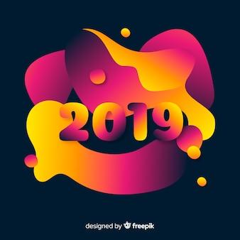 Fundo abstrato e colorido de 2019