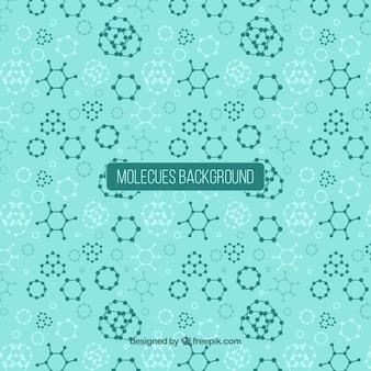 Fundo abstrato e geométrico de moléculas