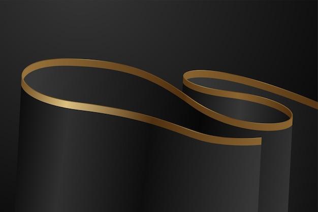 Fundo abstrato e luxuoso em preto e dourado
