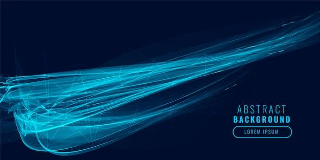 Fundo abstrato efeito de luz azul