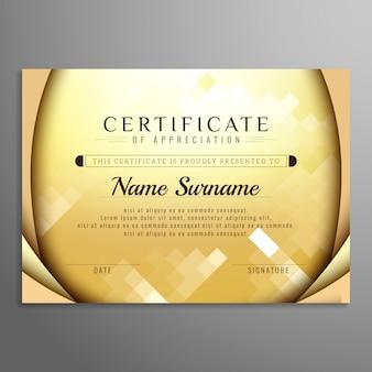 Fundo abstrato elegante certificado colorido