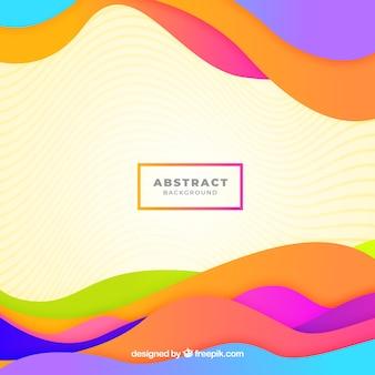 Fundo abstrato elegante com ondas coloridas