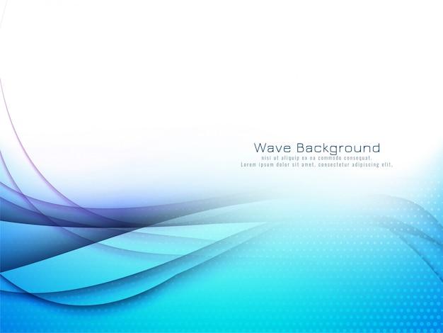 Fundo abstrato elegante onda azul