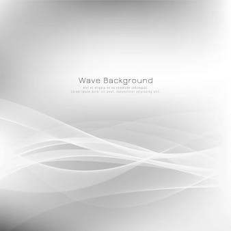 Fundo abstrato elegante onda cinza