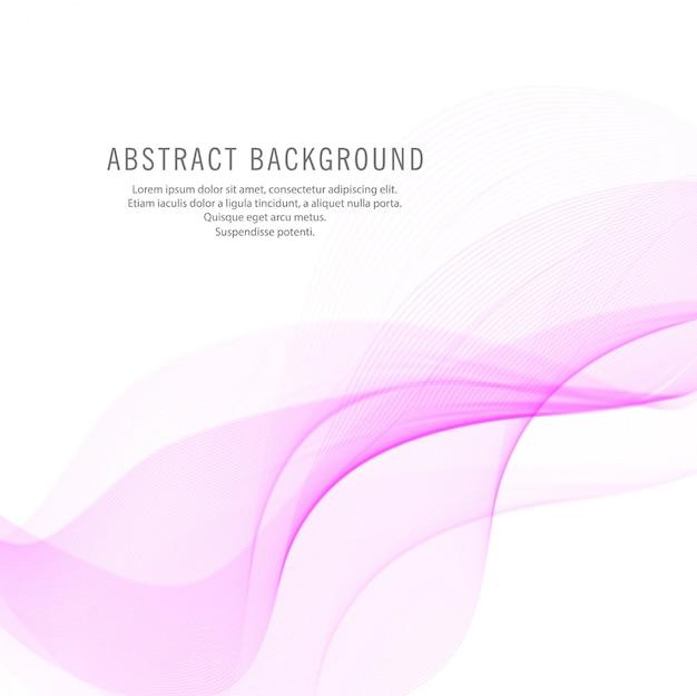 Fundo abstrato elegante onda rosa