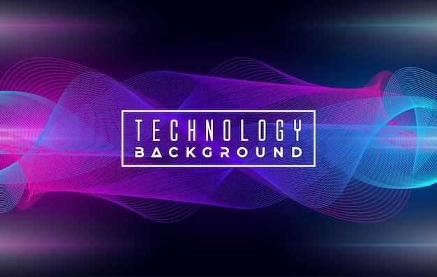 Fundo abstrato elegante onda tecnologia