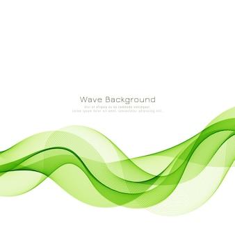 Fundo abstrato elegante onda verde