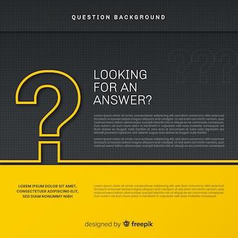 Fundo abstrato elegante pergunta preto e dourado