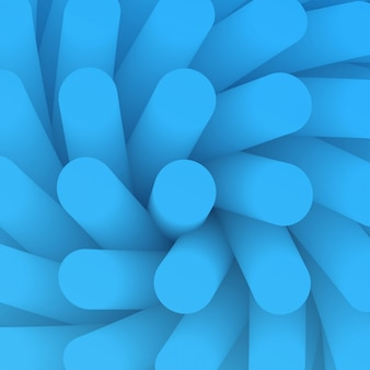 Fundo abstrato. elemento de pano de fundo em perspectiva de redemoinho. papel de parede com tubo de gradiente liso. vilosidades de estrutura azul no estilo de medicina.