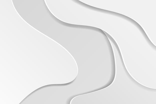 Fundo abstrato em camadas de papel curvo branco