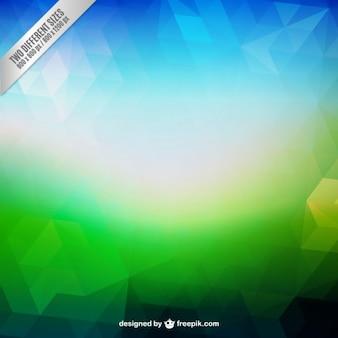 Fundo abstrato em tons azuis e verdes