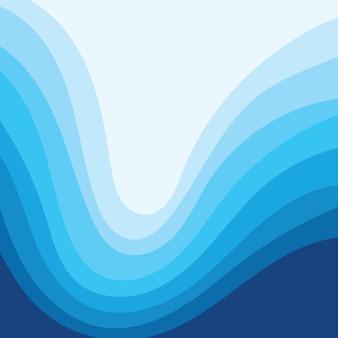 Fundo abstrato eps10 do projeto da ilustração do vetor da onda de água