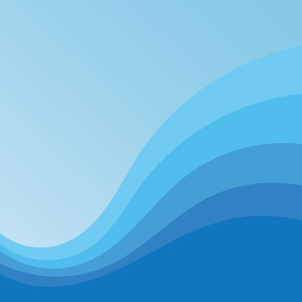 Fundo abstrato eps10 do projeto da ilustração do vetor da onda de água Vetor Premium