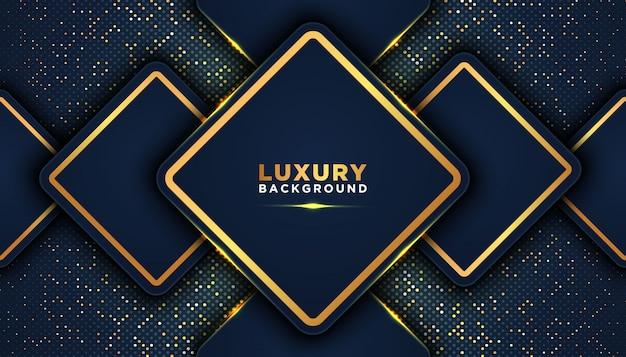 Fundo abstrato escuro com camadas de sobreposição. conceito de design de luxo. decoração de elemento de pontos de brilhos dourados. conceito de design de luxo.