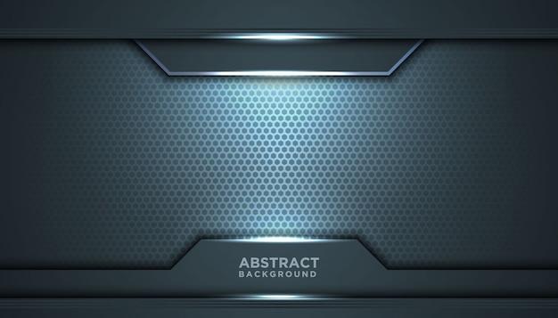 Fundo abstrato escuro com camadas de sobreposição. conceito de design de luxo.