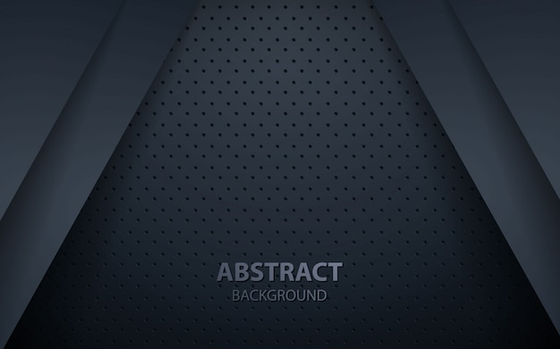 Fundo abstrato escuro com camadas de sobreposição de preto