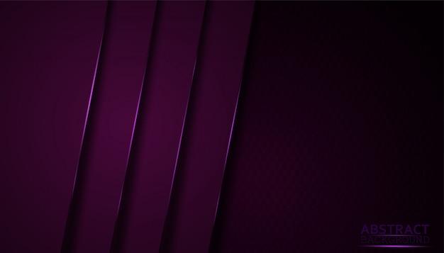 Fundo abstrato escuro com camadas roxas da folha de prova.