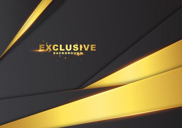 Fundo abstrato escuro com cor de ouro luxuoso