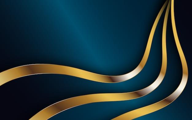 Fundo abstrato escuro com faixa dourada