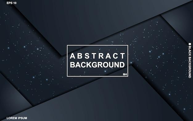 Fundo abstrato escuro com moderno mínimo do teste padrão geométrico preto e azul.
