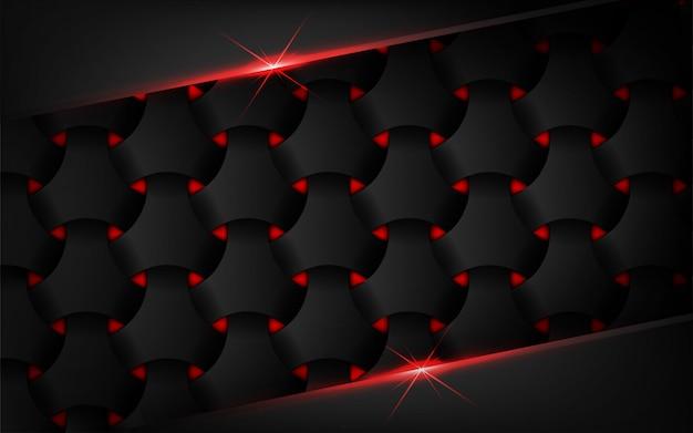Fundo abstrato escuro com reflexo de lente de luz vermelha