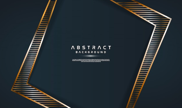 Fundo abstrato escuro moderno com linha dourada