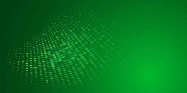 Fundo abstrato feito de pontos de meio-tom em cores verdes