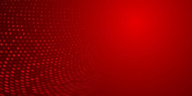 Fundo abstrato feito de pontos de meio-tom em cores vermelhas
