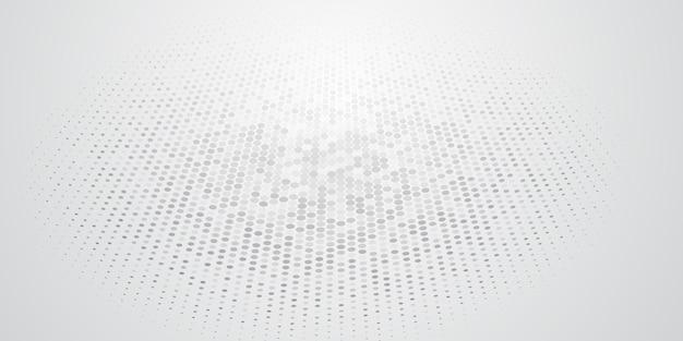 Fundo abstrato feito de pontos de meio-tom nas cores branco e cinza