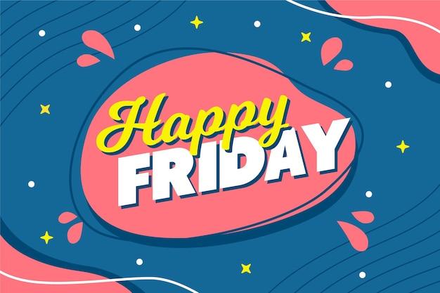 Fundo abstrato feliz sexta-feira