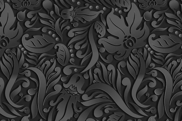Fundo abstrato floral ornamental