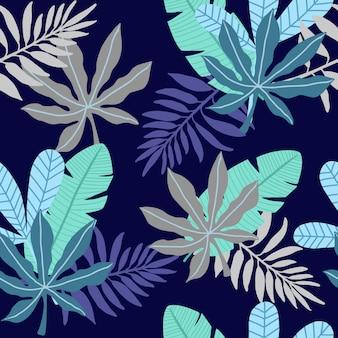 Fundo abstrato folha padrão