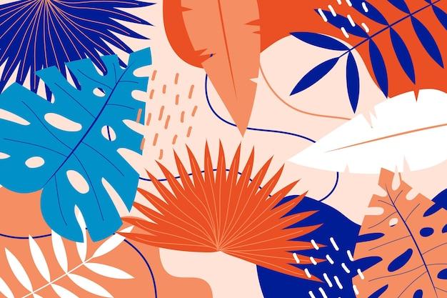 Fundo abstrato folhas tropicais