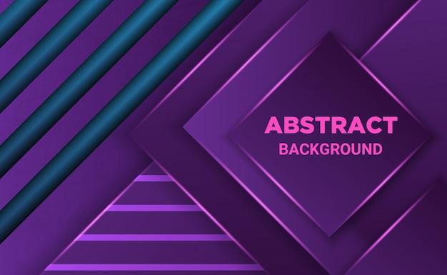 Fundo abstrato forma geométrica com gradação roxa