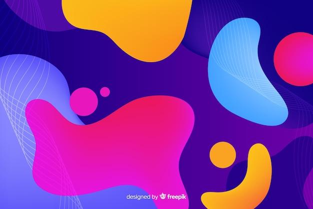 Fundo abstrato formas coloridas