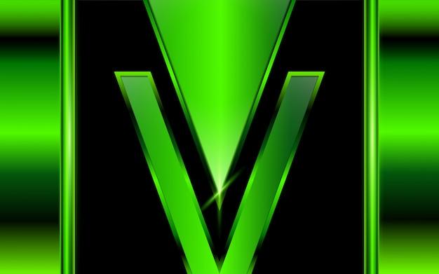 Fundo abstrato formas de metal verde