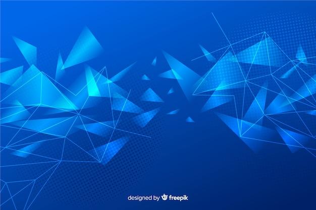 Fundo abstrato formas geométricas brilhantes