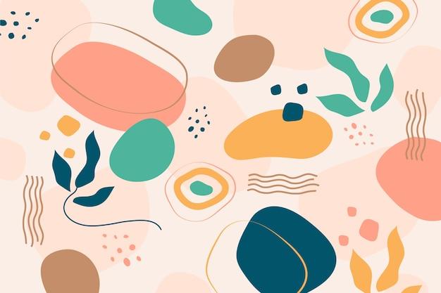 Fundo abstrato formas orgânicas