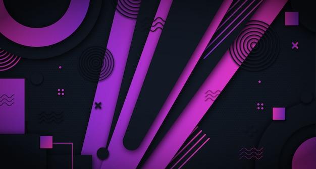 Fundo abstrato formas roxas