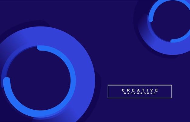 Fundo abstrato futurista de dois círculos