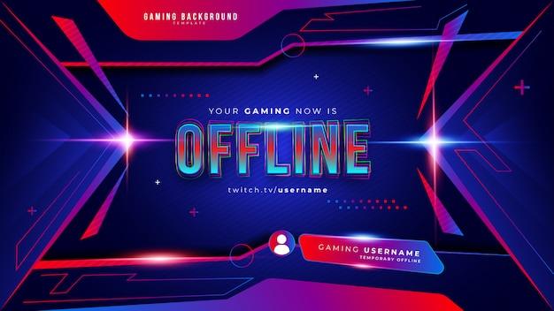 Fundo abstrato futurista de jogos para fluxo offline do twitch