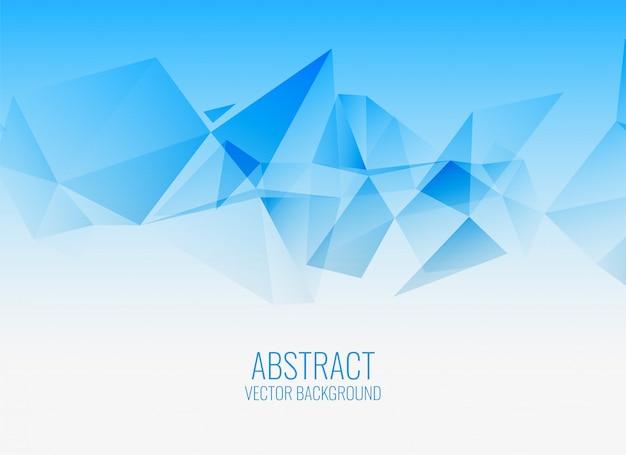 Fundo abstrato geométrico azul elegante