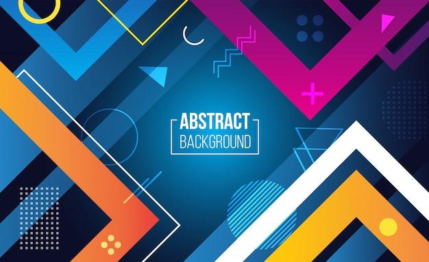 Fundo abstrato geométrico colorido vector