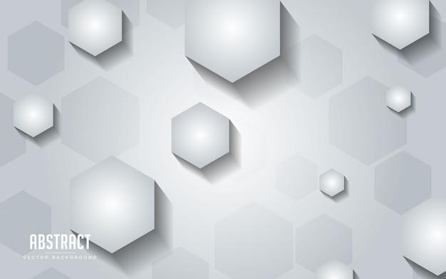 Fundo abstrato geométrico com cor cinza e branco